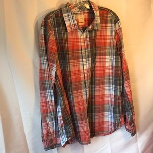 Gap Lived-In XL Plaid Button-Up Shirt